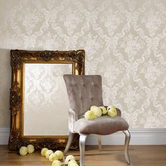 Glimmerous Taupe Wallpaper by Graham and Brown