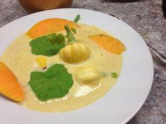 Kürbiscremesuppe mit Karamellnote Thai Red Curry, Ethnic Recipes, Food, Caramel, Essen, Meals, Yemek, Eten