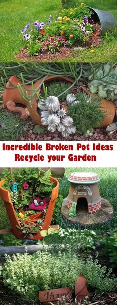 Have broken pots? Don't throw them away, check out these cool ideas to recycle them