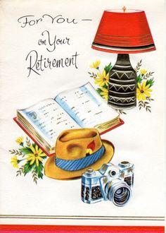 Vintage Retirement card, 1960's.