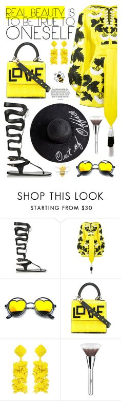 """Bee Happy"" by neverboring ❤ liked on Polyvore featuring Ancient Greek Sandals, Yuliya Magdych, Mary Kay, Les Petits Joueurs, Sachin + Babi, ULTA, women, polyvoreeditorial, summerdatenight and dreamydresses"