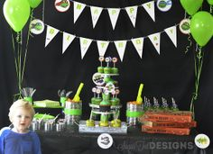 sugartotdesigns- The Teenage Mutant Ninja Turtles Party Table