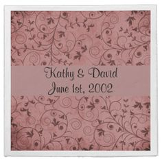 Red Grungy Floral (Wedding) Paper Napkins ........ http://www.zazzle.com/red_grungy_floral_wedding-256752982454946472?rf=238631258595245556