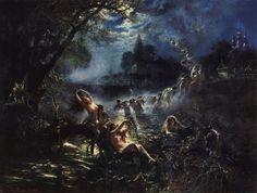 "Константин Маковский ""Русалки"", 1879"
