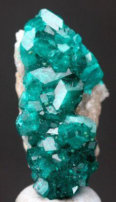 RARE Dioptase Dark Emerald Crystal Cluster Mineral Specimen