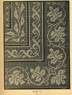 Crochet Edgings Design Filet Crochet vol. Filet Crochet Charts, Crochet Borders, Crochet Cross, Crochet Diagram, Crochet Home, Crochet Stitches, Cross Stitch Borders, Cross Stitch Designs, Cross Stitch Patterns