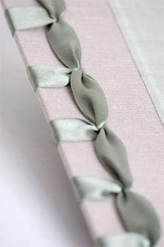Japanese-style binding with satin ribbon example - c/o Ardour Bookbinding