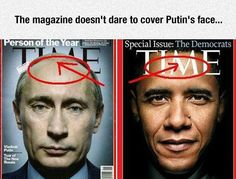 No One Messes With Vladimir Putin. Time mag. doesn't dare write on HIS head.