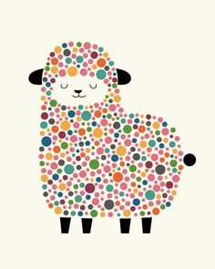 Bubble Sheep Art Print by Andy Westface - Fy Sheep Art, Dot Painting, Cute Illustration, Nursery Art, Rock Art, Art For Kids, Art Projects, Auction Projects, Fine Art Prints