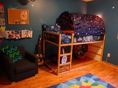 Riley's outerspace adventure room.