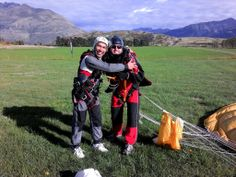 EMBRACE THE FEAR. Embrace our tandem master Caue! #gigatownqueenstown #skydive #Queenstown Drop Zone, Paragliding, Skydiving, Tandem, Golf Bags, Take That, Tandem Bikes