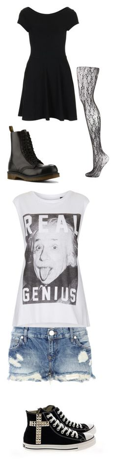 """""""Summer effy style"""" by loveeffystyle ❤ liked on Polyvore featuring Summer, rock, skins, effy, Topshop, Dr. Martens, River Island, Tee and Cake, Converse and shorts"""