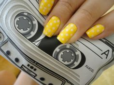 Yellow with white polka dots - Yellow polish isnt my favorite..but this is cute.