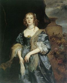 c.1638.Anne Carr, Countess of Bedford. Anthony van Dyck (1599-1641) oil on canvas. Petworth House and Park.