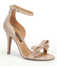 nudekay unger baroque bow ankle strap dress sandals