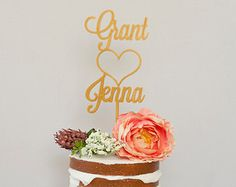 Custom Name Wedding Cake Topper by HomePrint3D on Etsy