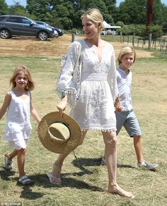 Kelly Rutherford and daughter decked out in Calypso St. Barth at Super Saturday 2015