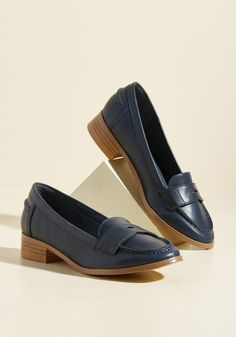 I'm All Loafer It. Anytime there's a task that requires class, you're the one they ask! #blue #modcloth