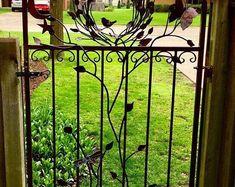 Pyro Monolith Metal Chiminea Vertical Fire Pit   Etsy Cast Iron Gates, Metal Gates, Cedar Garden, Wooden Garden, Metal Chiminea, Iron Garden Gates, Custom Metal, Custom Art, Custom Gates