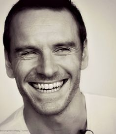 Michael Fassbender...OMG like BEST. SMILE.  in the world!! :D :D Can I have him please??!!!!