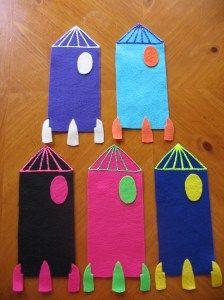 Five Rockets in Space