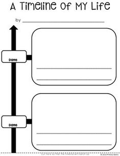 Students can use this vertical timeline template to create a timeline of their lives. Simply add a date, picture and a short description for each important event. Some assembly required. :) Created by Primary Basics