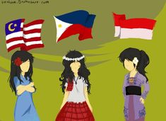 MaPhilIndo by uzuluna Hetalia Philippines, Dream Friends, Hetalia Fanart, Hetalia Characters, Maria Clara, Cartoon Movies, Filipina, My Heart Is Breaking, Pacific Ocean