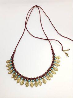 Ethnic Necklace Tribal chocker Macrame Necklace Indian