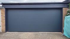 Wood Imitation Roll Up Garage Door Made Of Aluminum