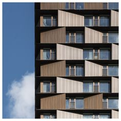 Image 14 of 22 from gallery of Nordbro Complex Student Residences / Arkitema Architects. Photograph by Jens Lindhe Hotel Architecture, Education Architecture, Concept Architecture, Architecture Design, Chinese Architecture, Futuristic Architecture, Building Elevation, Building Facade, Facade Design