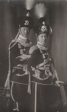 Princess Viktoria Luise with her brother Crown Prince Wilhelm
