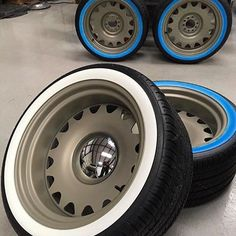 got our artilleries wrapped up in some sweet white walls. Going on a 49 Ford, looking forward to seeing it! Wheels And Tires, Car Wheels, Detroit Steel Wheels, Dually Trucks, Steel Rims, Rims For Cars, American Racing, Custom Wheels, Chevy Silverado