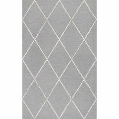 Arriola Hand-Tufted Wool Light Gray/White Area Rug