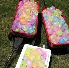 Outdoor party with water balloons