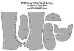 Boots Pattern Well, here's a complete pattern - I'll adapt it to my lasts and see if it needs adjusting..