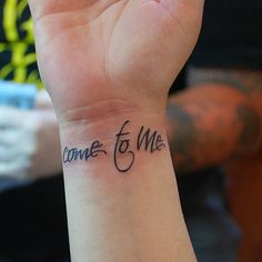 Come to Me... Tathunting for typographic tattoos.