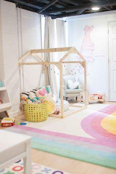 Basement playroom ideas from Lay Baby Lay