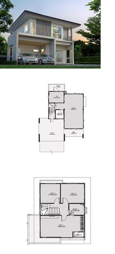 Cost Of Building A House Budget Printing Videos Texture Info: 5870493351 Modern House Plans, Small House Plans, Modern House Design, Floor Plan Layout, Small Modern Home, House Blueprints, House Layouts, Cozy House, Design Case