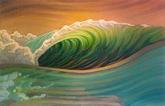 I hope you enjoy these beautiful paintings by Matt Beard . He is a surf artist from Humbolt County California( I used to live there too. Beard Art, Posca Art, Hawaiian Art, Art Sculpture, Surfboard Art, Wave Art, Tropical Art, Surf Art, Ocean Art