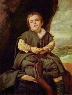 [궁정 난쟁이 프란시스코 레스카노 (니뇨 데 발레카스)의 초상] 1643-1645