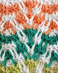 Maggie's Crochet · Stitch Repeat Mosaic Plaid Ripple - Free Crochet Pattern