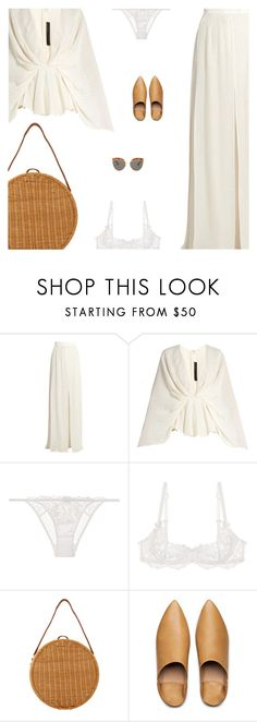 """""""Untitled #5053"""" by amberelb ❤ liked on Polyvore featuring Elie Saab, L'Agent By Agent Provocateur, Serpui, Acne Studios and Kaleos"""