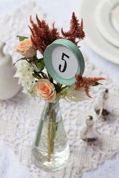 DIY Wedding Table Number Ideas // http://www.modernwedding.com.au/diy-wedding-table-numbers/