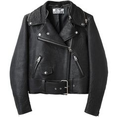 Acne Studios Mape Leather Jacket (€1.260) ❤ liked on Polyvore featuring outerwear, jackets, leather jackets, coats, leather moto jacket, real leather jacket, black moto jacket, black cape and black cape coat