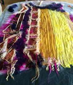 wool felt tunic ,free style by Nadin Smo design. www.nadinsmo.com #nunofelting…