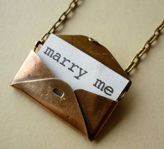 ADD diy <3 <3 www.customweddingprintables.com ...Adorable vintage letter locket holds a sweet private message for your eyes only.