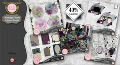 CLGraphics Moonlight Velvet and Roses Bundle