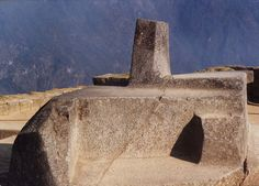 The Intihuatana, sacred stone of the Inca. Placed at Machu Picchu, Peru