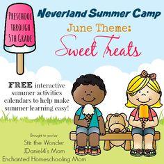 Neverland Summer Camp- an interactive calendar full of activities for preschoolers!