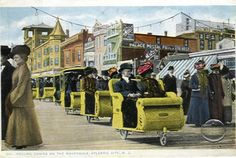 Atlantic City NJ.  Rolling Chairs 1914